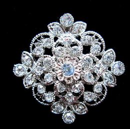 Wholesale White Scarf Balls - Fashion diamond drill brooches women wedding party Crystal Rhinestone alloy pins brooch charm jewelry hat scarf bag belt accessories gift