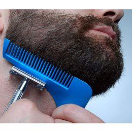 Wholesale Fine Beard - 2017 newest Beard Bro Beard Shaping Tool Styling Sharper Comb Men Perfect Lines Facial Hair Beard Trim Template Modelling Tools