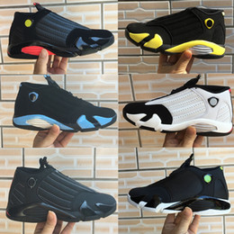 Wholesale Red Laces Candy - 2017 Retro 14 Men Basketball Shoes Sneakers Forest Green Red Grey 100% Original Quality 14s Candy Cane Cheap Sale online