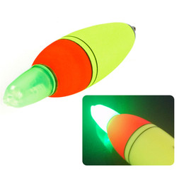 Wholesale glow bobber - Luminous Fishing Float Boia Foam Type Led Fishing Light Stick Bobber Buoy Electronic Glowing Night Fishing Floats Set Q0230