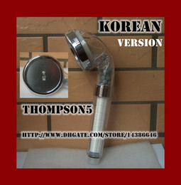Wholesale Soften Polish - Korea vesion Negative Ion Pressurize SPA Shower Head Can Descaling   Softening Water Toilet filtering high-end massage Rain Sprayer Nozzle