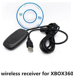 Wholesale Gaming Accessories - 50pcs lot Free Shipping PC USB Gaming Receiver For Xbox 360 PC Windows Slim Wireless Controller Pad Game Accessory