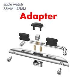 Wholesale Watch Fastener - band watchband fastener connector for apple watch iwatch band 42mm 38mm applewatch band adapter for iwatch wrist iwatch replace free DHL