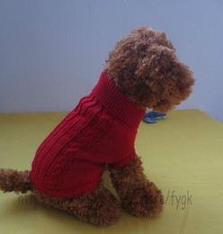 Wholesale pet fiber - Winter Product Soft Cozy Dog Sweater New Cute Pet Dog Warm Jumper Sweater Clothes Puppy Cat Knitwear Coat Apparel