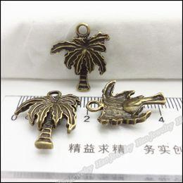 Wholesale Coco Charms - 150pcs Vintage Charms Coco Pendant Antique bronze Zinc Alloy Fit Bracelet Necklace DIY Metal Jewelry Findings
