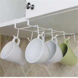 Wholesale Metal Shelfs - 2017 kitchen accessories Coffee Cup Rack Red Wine Shelf Hanging Hooks Nail Free Clapboard Water Shelf Kitchen Supplies Storage Rack