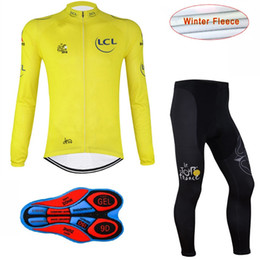 Wholesale Winter Bike Clothing - New 2017 Cycling thermal fleece Jersey Long Sleeve Set Bike Wear winter Tour de france bicycle Clothing mtb maillot ciclismo