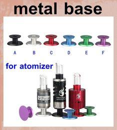 Wholesale Electronic Cigarette Display Metal Base - Colorful Metal base for atomizer vaporizer Electronic Cigarette Display Support Holder Ecig Stand Organizer free shipping FJ154
