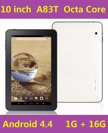Wholesale Android Tablet 16g - cheap tablet 10.1 Allwinner A83T Octa Core tablet PC 10inch 1024*600 HDMI Bluetooth 1G 16G Dual Camera tablet PC DHL Free