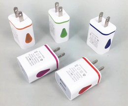 Wholesale Cheapest Car Usb Port - Water-drop LED Dual USB Ports Home Travel Power Adapter cheapest fatest charger wall plug AC US EU Plug Wall Charger For iPhone Samsung