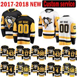 jersey de pingüinos personalizados Rebajas Pittsburgh Penguins Custom 2017-2018 Nuevo 31 Antti Niemi 68 Jaromir Jagr Jersey 4 Justin Schultz 58 Kris Letang 17 Bryan Rust Hockey Jerseys