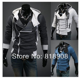 Wholesale Womens Sweaters Xxl - Wholesale-2015 Spring Autumn assassins creed cosplay hoodies sweater jacket unisex mens or womens hoodies
