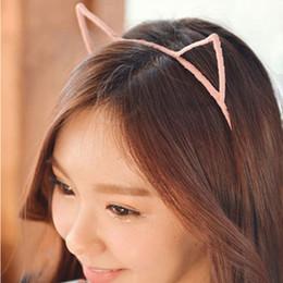 Wholesale Sexy Self Photo - Wholesale-1PCS 5 Colors Stylish Women Girls Cat Ears Headband Hair Sexy Head Band Self Photo Prop