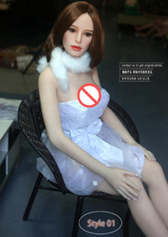 Wholesale Japan Dolls For Sex - Japan Real Silicone Sex Dolls for Women Realistic Big Breast Masturbator Vagina Pussy Adult Sexy Toys Metal Skeleton Love Doll