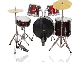 batterie acoustique Promotion 5pcs Drum Set Red Paint Ensemble de batterie pour adultes Jazz Jazz Drum Set