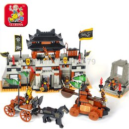 Wholesale Three Kingdoms Sluban - Sluban M38-B0266 The Chinese feature Three Kingdoms Large castle scene Blocks toy for Children Compatible with Legominifigure