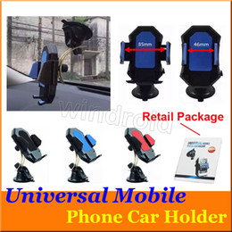 Wholesale Movil S6 - Universal Windshield Mobile Car Phone Holder Mount Stand Bracket soporte movil for iPhone 6 6s plus for Samsung Galaxy S6 note colorful 100