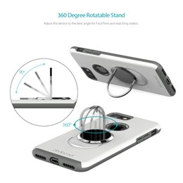 Wholesale Ultimate Iphone Case - Dodocool Phone Case with Universal 360 Degree Rotatable Ring Grip Stand Ultimate Protection Hard Shell for 4.7-inch iPhone 7 White