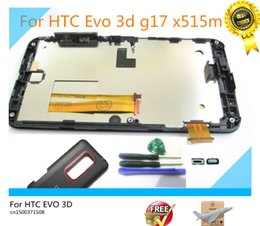 Wholesale Evo 3d Touch Screen - Wholesale-Original Full LCD Display+Touch Screen Digitizer Assembly+Frame+Housing cover for HTC Evo 3d x515m