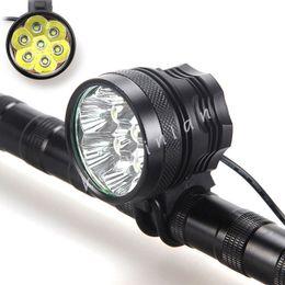 9000Lm 7x CREE XML T6 LED Fahrrad Licht Scheinwerfer Radfahren Fahrrad Kopf Licht Lampe + Batterie Pack + Stirnband von Fabrikanten