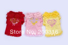 Wholesale Large Pearl Bows - Wholesale-Retail New Arrival small bow with pearls pet dogs Summer Shirt Free Shipping Dogs coat clothing for dog