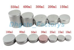 Wholesale Aluminium Makeup - Different Size Empty Containers Container Aluminium Jar Tea Cans Aluminum Box Cases Makeup Empty Lip Gloss Jars Cosmetic Jars Box