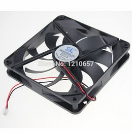 Wholesale Dc 12v Brushless Cooling Fan - Wholesale- 1Pieces GDT DC 12v 2Pin 140MM x 25mm Brushless PC Computer Cooling Fan