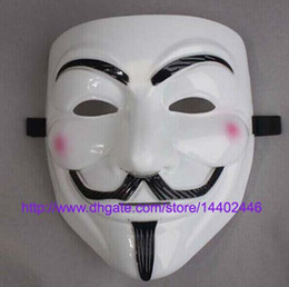 Wholesale Mask V Vendetta Pvc - 200pcs guy fawkes V vendetta team pink blood scar masquerade masks Halloween carnival Vendetta mask V masks for the wholesale , free ship