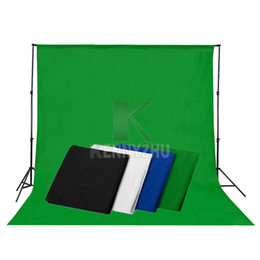 Wholesale Grey Background - Free DHL 3x6M Grey Blue Black White Green Photo Studio Muslin Backdrop Photography Cotton Background 10x20ft