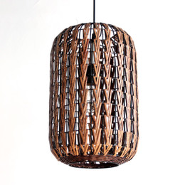 Wholesale Handmade Ceiling Lights - Handmade Southeast Asia Lantern Rattan Dining Room Ceiling Pendant Light Living Room Bar Counter Pendant lamp Restaurant Pendant Fixture