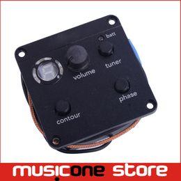 Wholesale Jack Box Shipping - Acoustic Guitar EQ Tone Phase Switch Pickup Battery Box Output Jack Free shipping MU0385