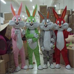 2019 costumes de lapin de pâques Gros COSTUME DE PÂQUES PROFESSIONNEL BUNNY BUNNY Bugs gris Lapin Hare Adulte Déguisement Costume de Bande Dessinée Déguisement costumes de lapin de pâques pas cher