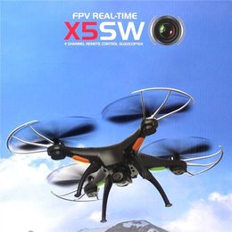 Wholesale Camera For Fpv - X5SW Helicopter FPV RC Drone Headless Quadcopter with WiFi Camera copter Model toys for everyone free shipping