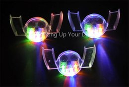 Wholesale Wholesale Fashion Club Dresses - Hot sale Halloween LED Flash Light Mouth Guard toys 5 Colors Party Glowing Tooth Toy decorate club Fashion dress free shipping