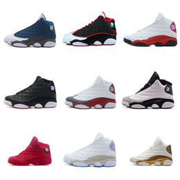 Wholesale allen sports - 2018 new shoes 13s Ray allen Men Basketball Shoes Barons black cat navy Chutney Chicago Men's Sneakers sports shoes eur 41-47