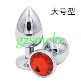 Wholesale Medium Stainless Butt Plugs - Medium Metal Anal Sex Toys For Woman & Man, Stainless Steel Enticing Jewelry Butt Plug. Large Ass Beads Products