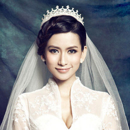 Wholesale Best Shine - In Stock Free Shipping Bride Crowns Crystal Beads Shining Girl Party Headpieces Evening Accessories Bride Jewel Tiaras Best Sale shj