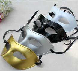 Wholesale Fancy Dress Children - DHL Free 200pcs lot Men's Masquerade Maske Fancy Dress Venetian Maskse Masquerade Masks Plastic Half Face Maske Optional Multi-color