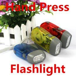 2019 taktische taschenlampen großhandel Notfall Taschenlampe Hand drücken Taschenlampen Mini Taschenlampe keine Batterie 3 LED Handbuch Wandern Camping umweltfreundliche Kinder Kind Geschenk