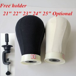 "Wholesale 25 Hair - Canvas Head for Wig Making Poly Mannequin Canvas Foam Block Head 21"", 22"", 23"", 24"", 25"" hair extensions tools"