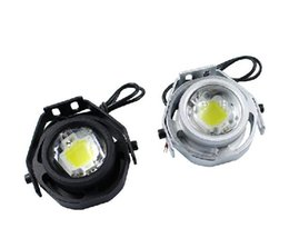 Wholesale Eagle Eyes Auto Lamps - 1Pcs 10W 73MM 12V Daytime Running Light cree IP67 Waterproof Led DRL Eagle Eye Car Styling Auto Fog Lamp White free shipping