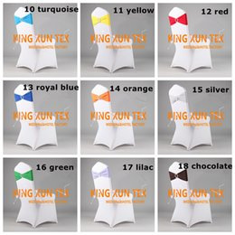 Wholesale Cheap White Wedding Chair Covers - Cheap Price White Spandex Chair Cover \ Lycra Chair cover And Lycra Band\Spandex Chair Band With Buckle