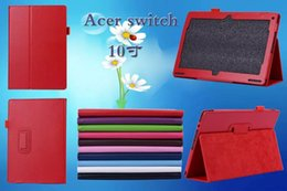 Wholesale Switch Back - HOT SALE Flip Litchi Grain Line PU Leather Stand Back Cover Case For ACER Switch 10