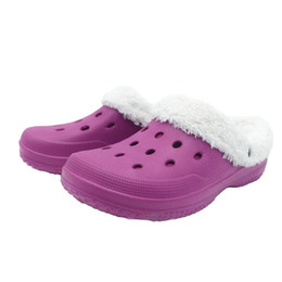 Wholesale Fashion Clogs - Women Winter Clogs Warm Freesail Fuzz Lined Slippers Slip on Sandals Indoor Outdoor Garden EVA Shoes Fuchsia US Size 6-10
