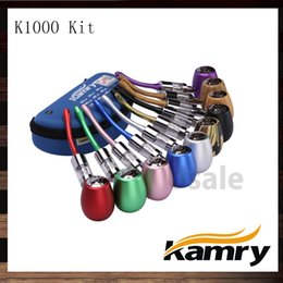 Kamry tanks online-Kamry K1000 Epipe k1000 Vape Mod Kit mit Kamry Dual Coils Glas Zerstäuber Tank 100% Original