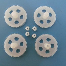 Wholesale Helicopter Gears - 8PCS Free Shipping X5C X5 Plastic Motor Gear 9T Main Gear SYMA X5C EXPLORERS UFO Quadcopter Rc Spare Parts Part Accessories A3