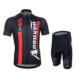 Top mtb marken online-Top schnell trocknend Radsportbekleidung Marke Arsuxeo Bike Costume Bike Mountain Bekleidung MTB Rennrad Jersey Sets