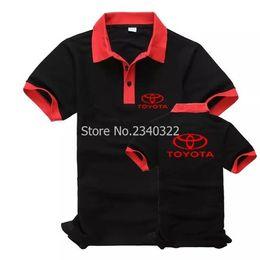 Wholesale Anti Toyota - New hot Toyota uniforms polo shirts short sleeve customer Toyota 4S shop men and women tooling polos shirts
