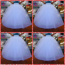 Wholesale Cheapest Wedding Gowns - Cheapest In Stock 2015 Ball Gown No Hoops Crinoline Bridal Organza Petticoats For Wedding Dress Wedding Skirt Accessories Slip Six Layers