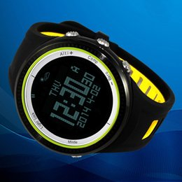 Wholesale Sport Watch Thermometer - SUNROAD FR800NB 5ATM Waterproof Outdoor Sports Watch Pedometer Stopwatch Altimeter Barometer Thermometer Compass Timer Backlight Y0048